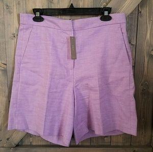 NWT J.Crew Lilac Linen Bermuda Shorts size 8